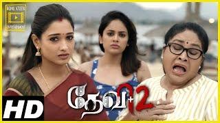 Devi 2 Tamil Movie Scenes | Kovai Sarala-Tamannaah tell tales to Nandita Shweta-Dimple Hayati