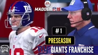 Madden 15 (PS4): New York Giants Online Connected Franchise - EP1 (Preseason)