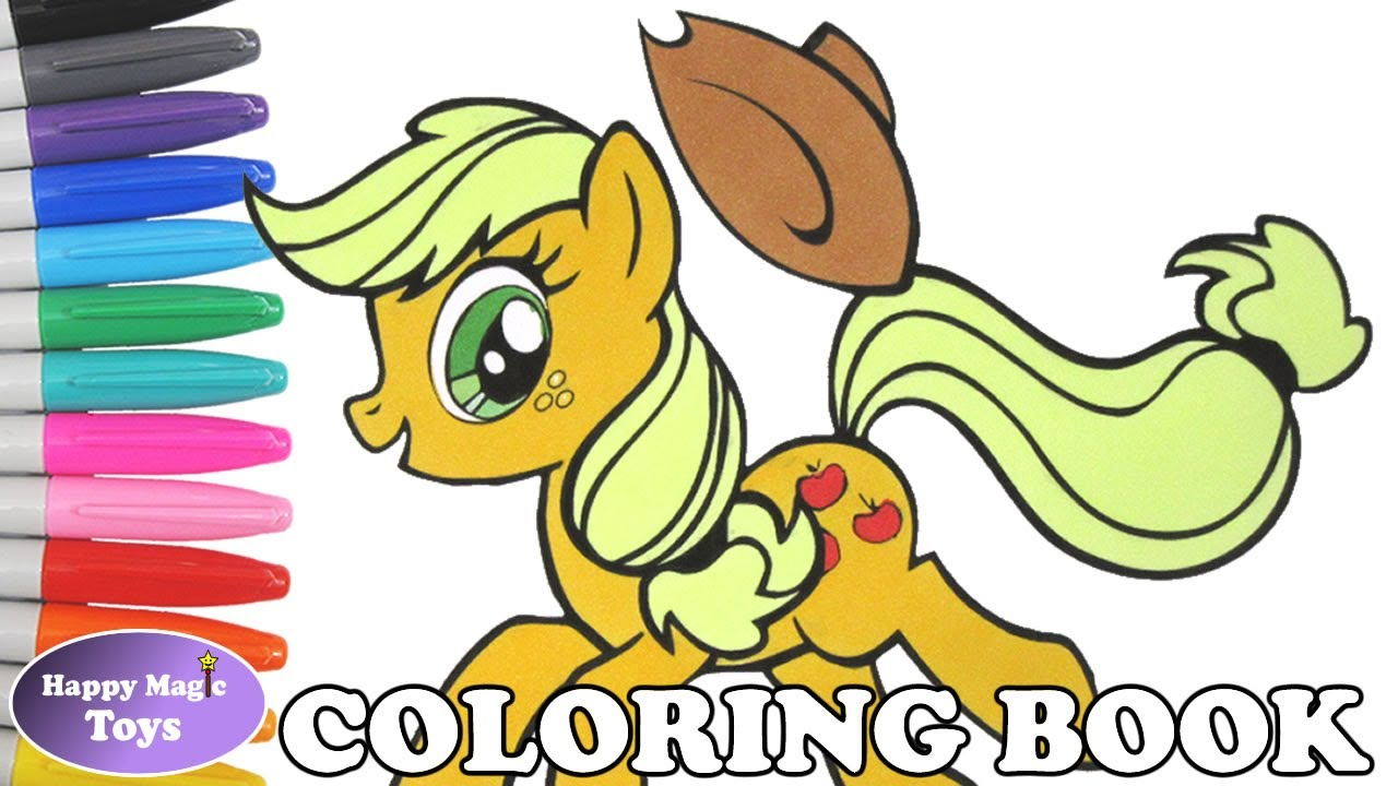 MLP Applejack Coloring Book Pages My Little Pony Page MLPFiM Kids Art