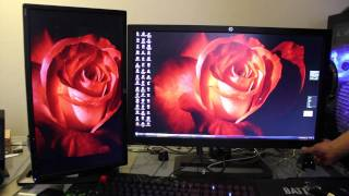 hP ZR2740W 27 inch IPS monitor unboxing and quick review (with ZR22W)