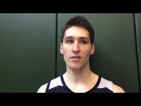 Ryan Arcidiacono after working out for the Pacers