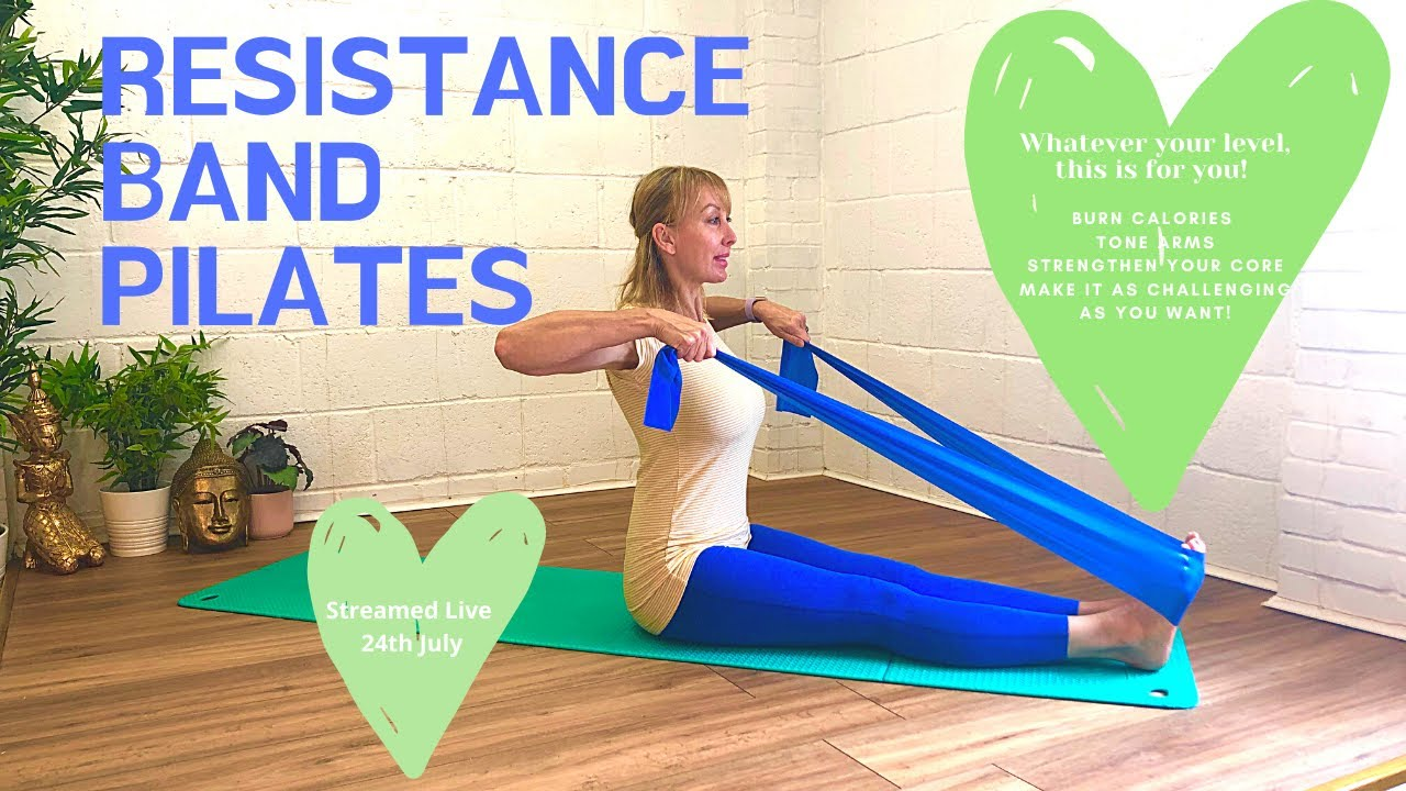 30 Minute Resistance Band Full Body Pilates Workout- Tone arms, Legs and Abs