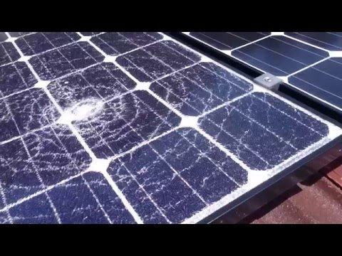 Home Rooftop Solar Power System Update – Shattered Panel!