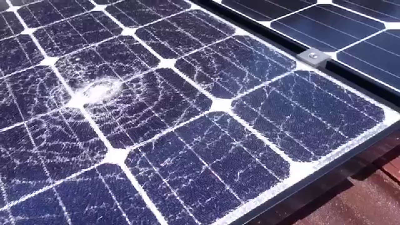 Home Rooftop Solar Power System Update Shattered Panel
