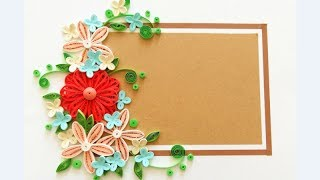 Paper quilling Flower Card Design 2 // Quilling card