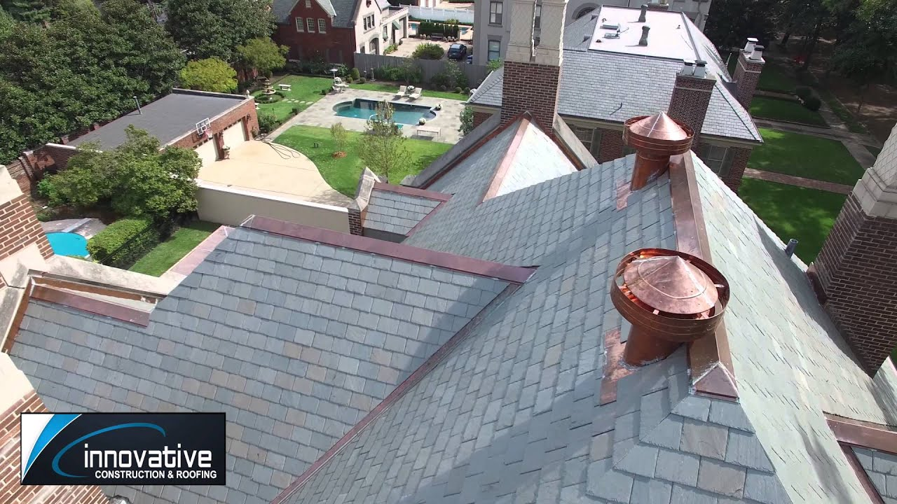 Slate Roof With Elegant Custom Copper Details   St. Louis, MO