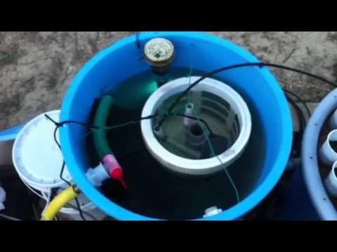 Filtro a tamburo verticale vms filter youtube for Filtro esterno laghetto fai da te