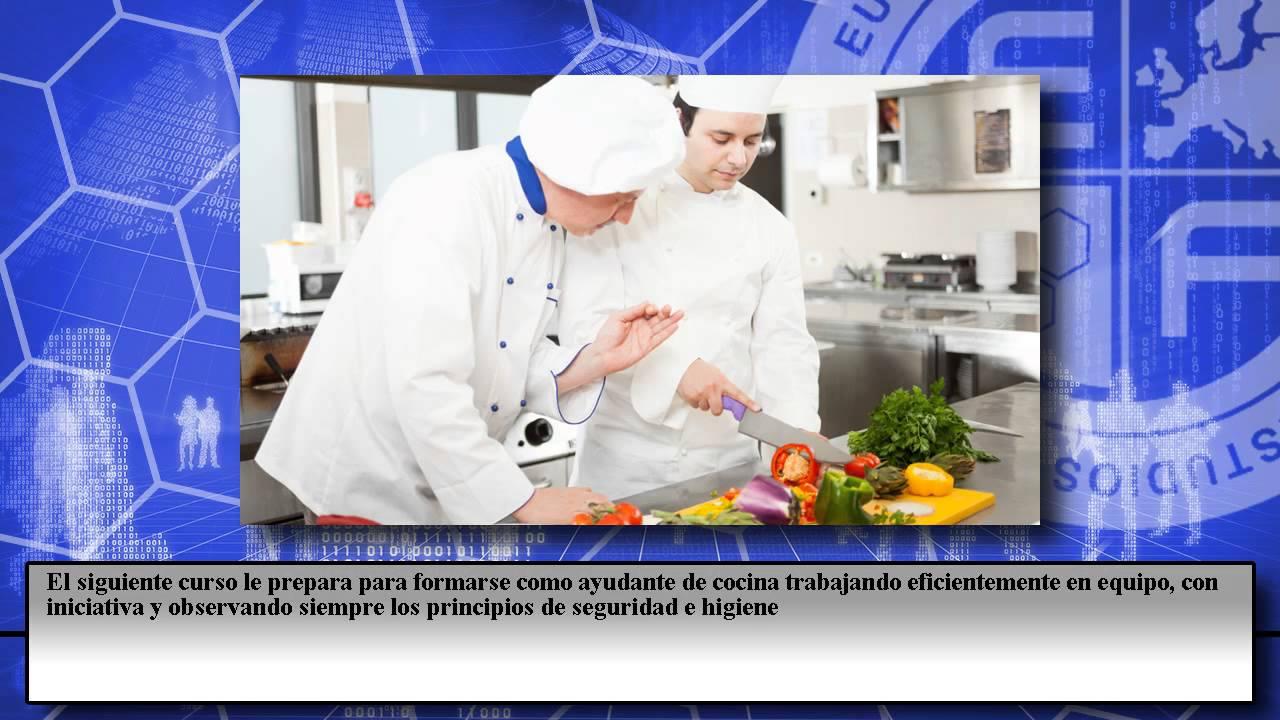 Curso ayudante cocina colectividades cursos online youtube for Ayudante cocina