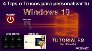 4 Tips o Trucos para personalizar tu Windows 10