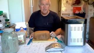 Хлеб на закваске в хлебопечке Rolsen RBM-1480