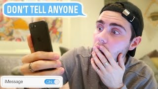 READING YOUTUBER TEXT MESSAGES