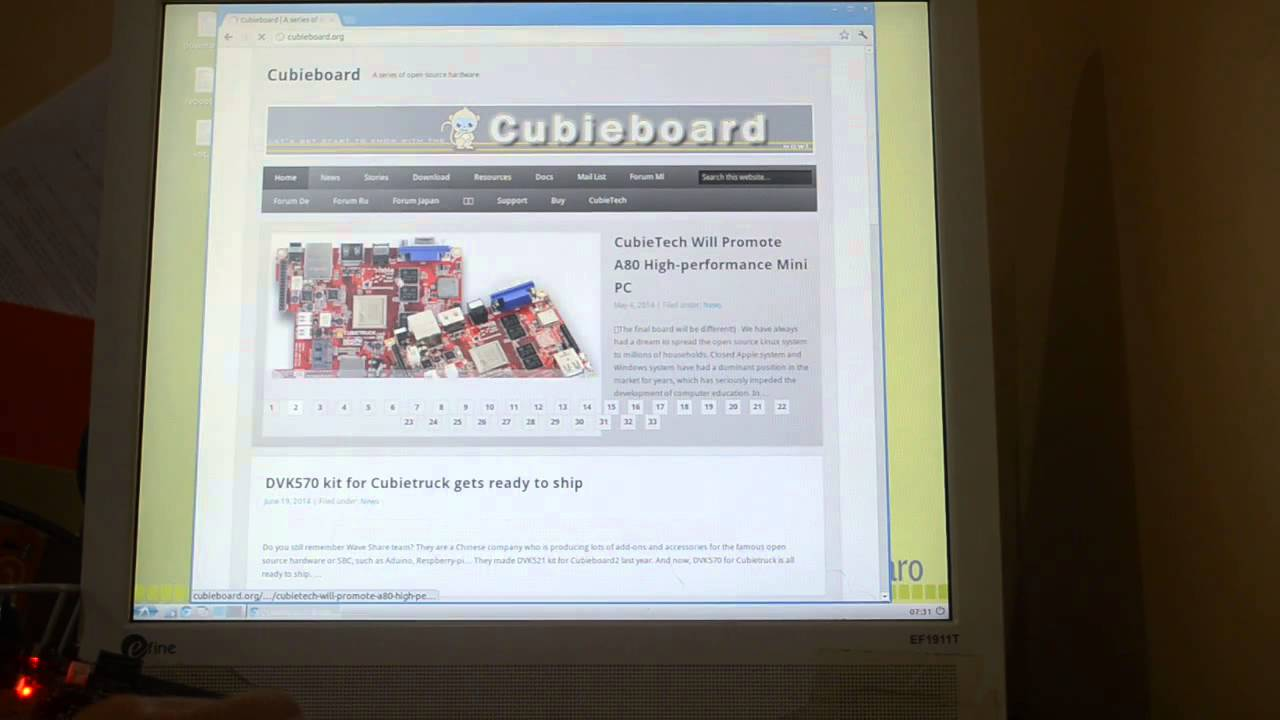Linaro On Cubieboard