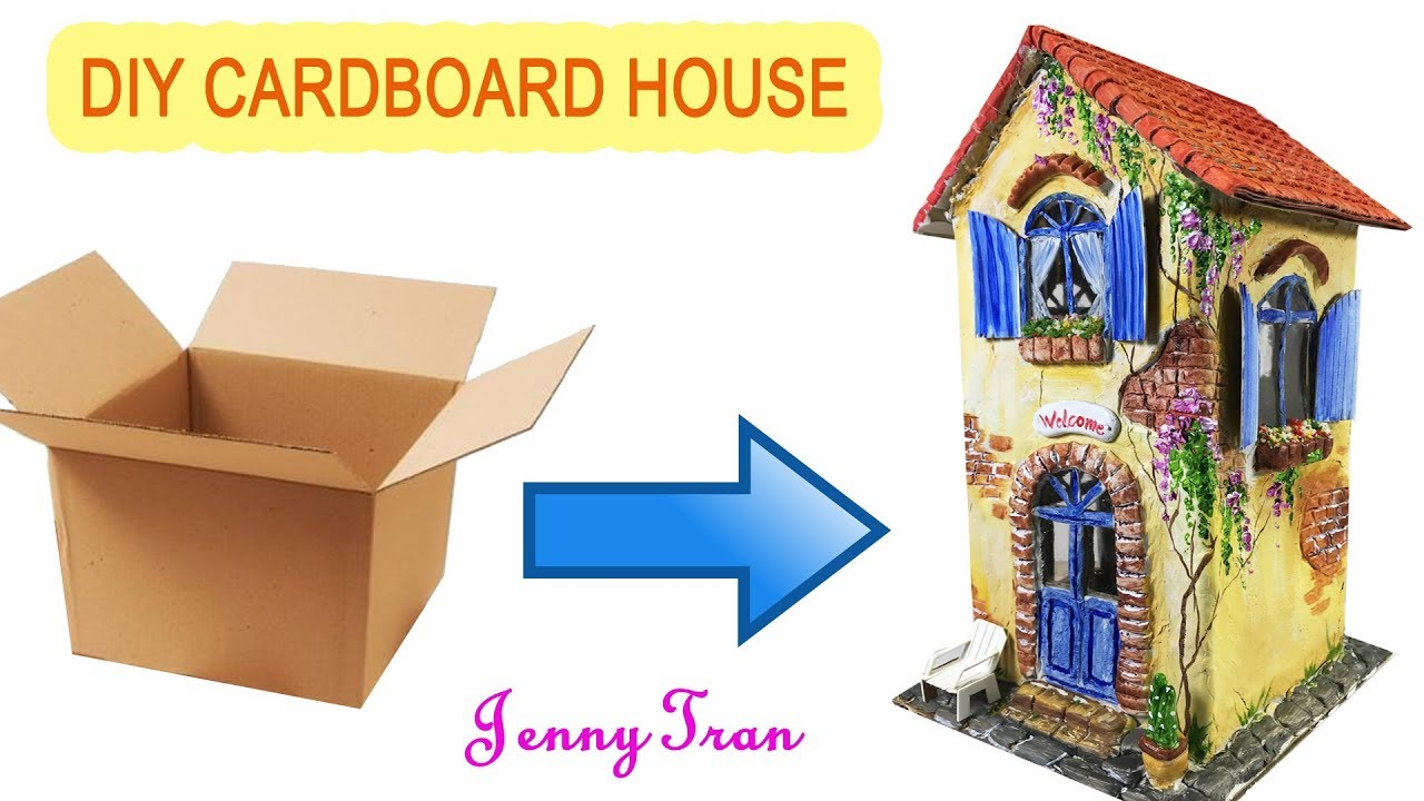 How To Build A Cardboard House Using Das Clay And Acrylic Paints