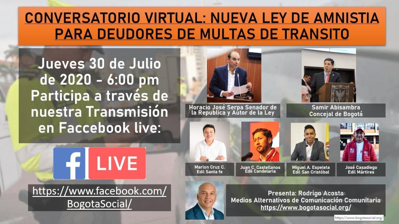 CONVERSATORIO: NUEVA LEY DE AMNISTÍA PARA DEUDORES DE MULTAS DE TRANSITO.
