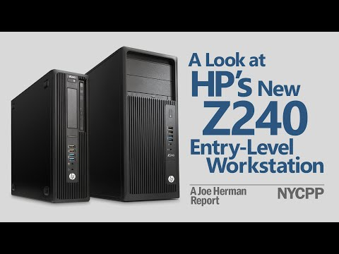 A Look at HP's Z240 Entry-Level Workstation - YouTube