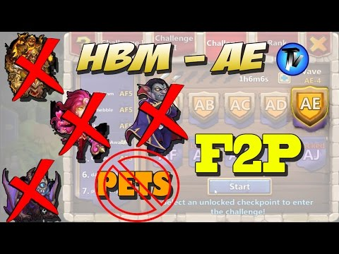 Castle Clash - HBM AE Without PETS, Gf, Sk, Ghoulem, Valentina, Vlad, Santa F2P