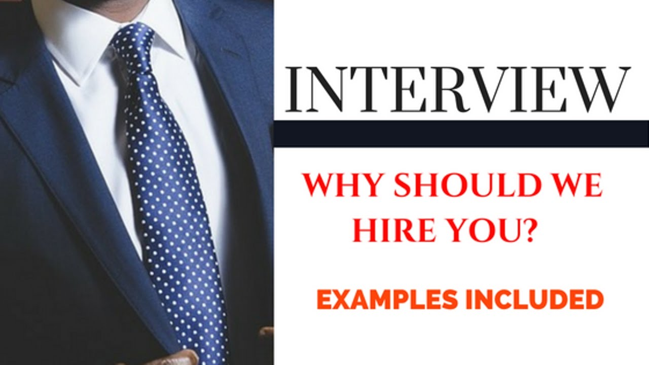why should we hire you best answers interview tips youtube