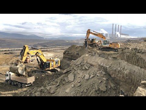 Cat 6015B Excavator Working With Cat D9T Dozer - Sotiriadis/Labrianidis Mining