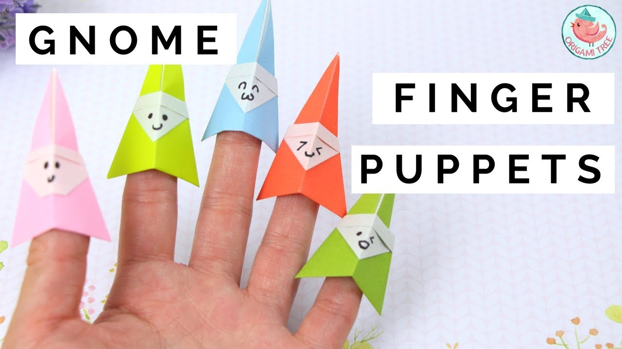 How To Fold An Origami Gnome Finger Puppet