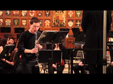 Copland Clarinet Concerto, Hart House Orchestra at the University of Toronto, Winter 2013