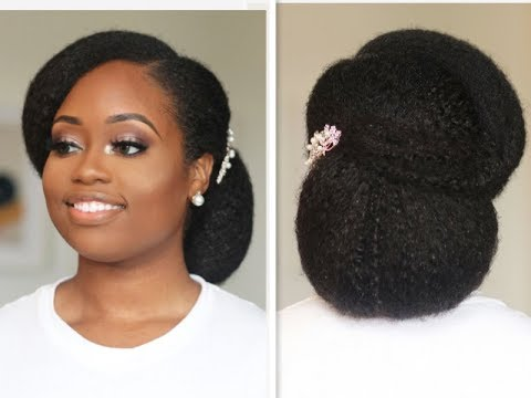 Bridal Updo For Natural Hair Bride Bridal Hairstyle With Natural