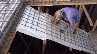 hOW TO BUILD CONCRETE STAIRS in a house   BRICKLAYING   MINI HOUSE