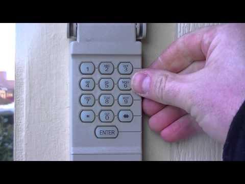 How to reset your garage door keypad pin number