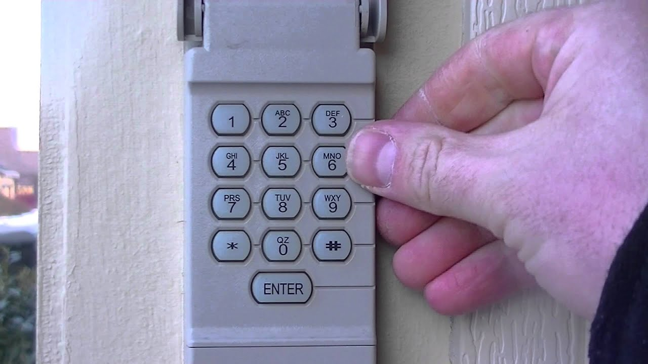 How to reset your garage door keypad pin number  YouTube
