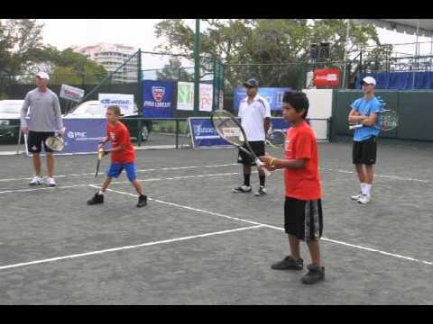 Sarasota Open: Nick Bollettieri exhibition