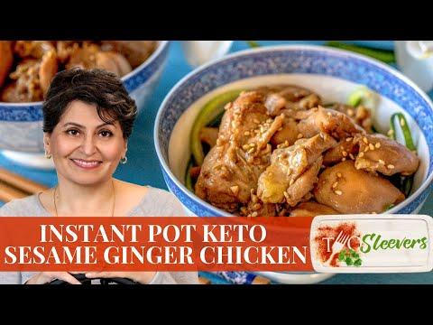 Instant Pot Keto Sesame Ginger Chicken