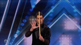 Lioz Shem Tov: Comedy Magician 'Telekinesis' Auditions America's Got Talent 2018