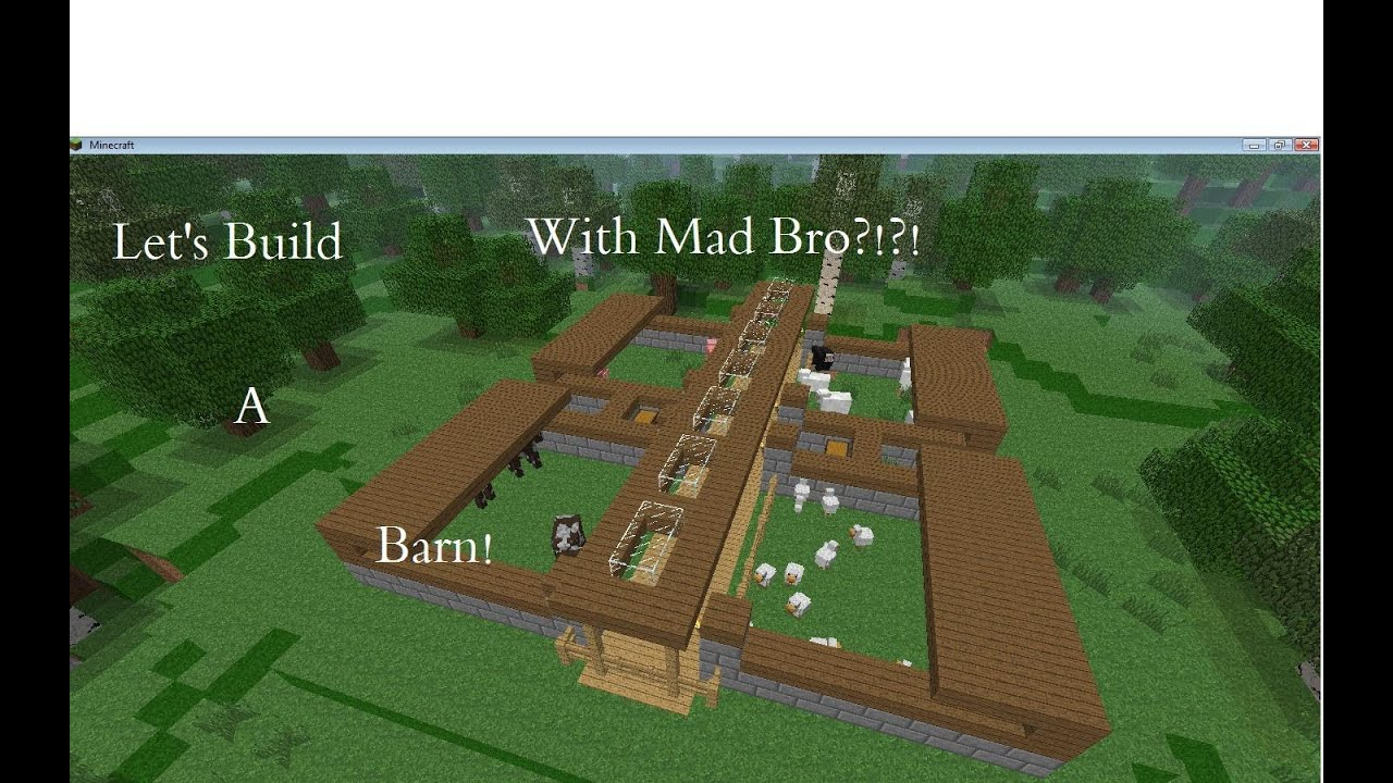 Minecraft How to build a Modern Barn