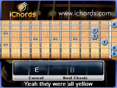 Yellow - Cold Play - learn the chords