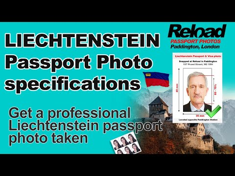 Liechtenstein Passport Photo and Visa Photo snapped in Paddington, London