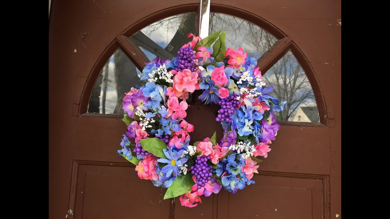My Attempt At Making A Spring Wreath Diy Dollar Tree Youtube