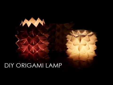Diy Origami Lampe Youtube