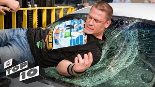 Superstars shatter the glass ceiling - and windows, and everything else - in this crashing episode of WWE Top 10.  #WWETop10  GET YOUR 1st MONTH of WWE NETWORK for FREE: http://wwenetwork.com --------------------------------------------------------------------- Follow WWE on YouTube for more exciting action! --------------------------------------------------------------------- Subscribe to WWE on YouTube: http://bit.ly/1i64OdT Check out WWE.com for news and updates: http://goo.gl/akf0J4 Find the latest Superstar gear at WWEShop: http://shop.wwe.com --------------------------------------------- Check out our other channels! --------------------------------------------- The Bella Twins: https://www.youtube.com/thebellatwins UpUpDownDown: https://www.youtube.com/upupdowndown WWEMusic: https://www.youtube.com/wwemusic Total Divas: https://www.youtube.com/wwetotaldivas ------------------------------------ WWE on Social Media ------------------------------------ Twitter: https://twitter.com/wwe Facebook: https://www.facebook.com/wwe Instagram: https://www.instagram.com/wwe/ Reddit: https://www.reddit.com/user/RealWWE Giphy: https://giphy.com/wwe