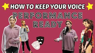 HOW TO KEEP YOUR VOICE PERFORMANCE READY | (MY SINGING EXERCISES) | Georgie Ashford