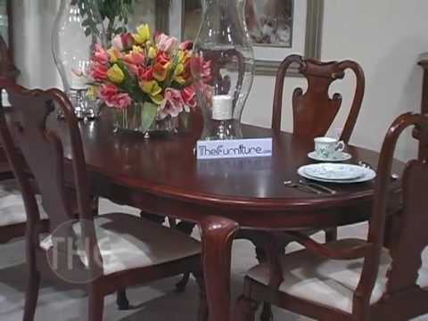 opulent dining room set with oval leg table 39 cherry grove 39 collectio
