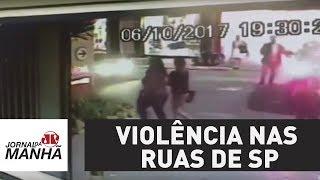 O medo da violência nas ruas de são paulo | jornal da manhã
