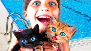 СПАСЛИ КОТЯТ СИМУЛЯТОР Маленького КОТЕНКА и СОБАКИ Челлендж с животными детский летсплей Валеришка