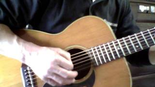 ソロギターの調べより、悲しみのアンジーをピックストロークでやってみ...