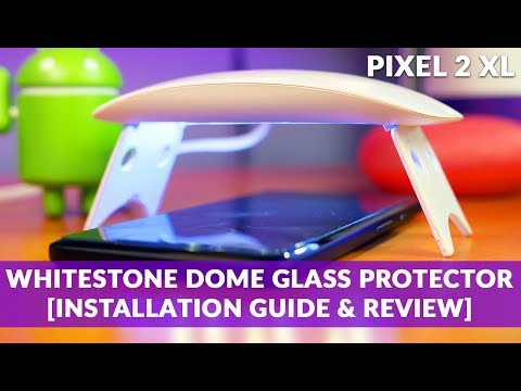 WhiteStone Dome Glass GOOGLE PIXEL 2 XL Tempered Screen Protector How-To Installation Guide & Review