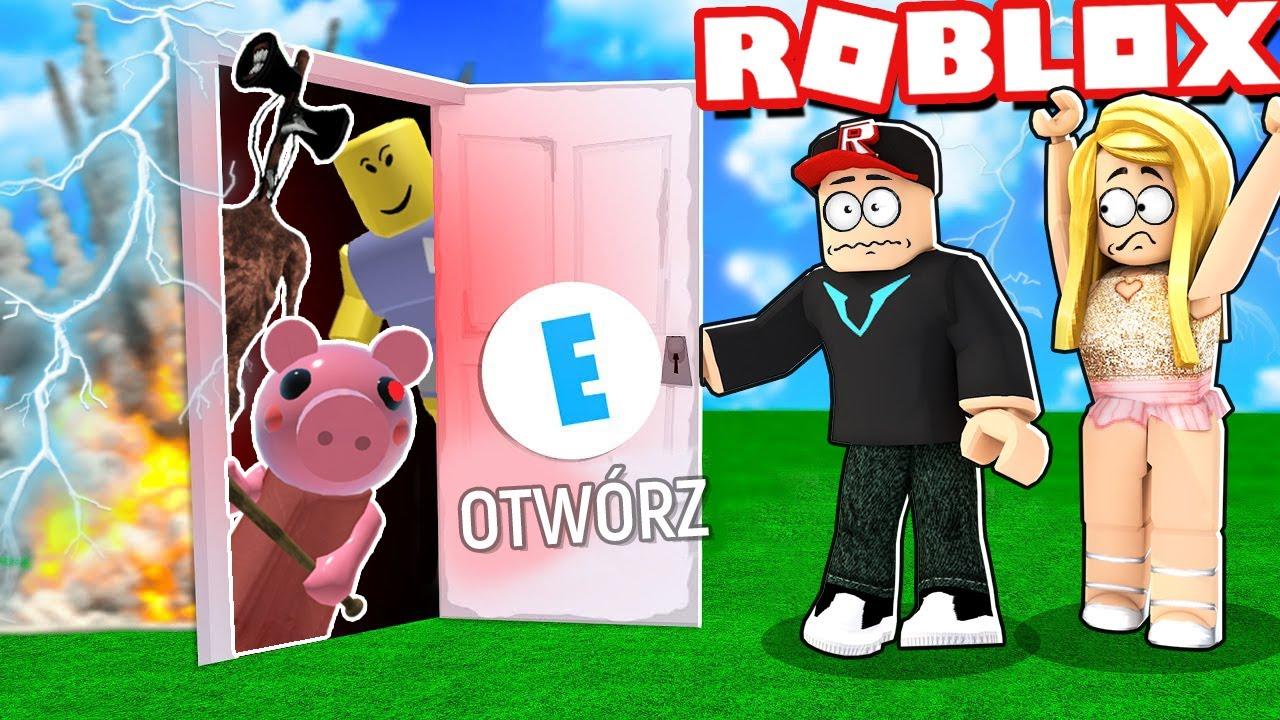 NIE OTWIERAJ TYCH ZWARIOWANYCH DRZWI W ROBLOX! (Roblox Horrific Doors)   Vito i Bella