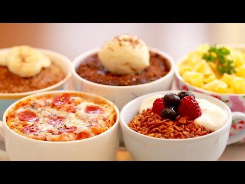 5 Microwave Mug Meals (Mug Pizza, Chocolate Brownie & More!) | Gemma's Bigger Bolder Baking