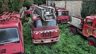 Les anciens camions de pompiers abandonnés - Urbex