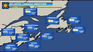 Heavy rain and strong winds for Atlantic Canada