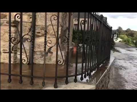 Nuevas imágenes de la espectacular ríada provocada por una tubería en Viveiro