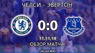 Челси - Эвертон (0:0). Обзор матча. Chelsea vs Everton (0:0). Highlights.