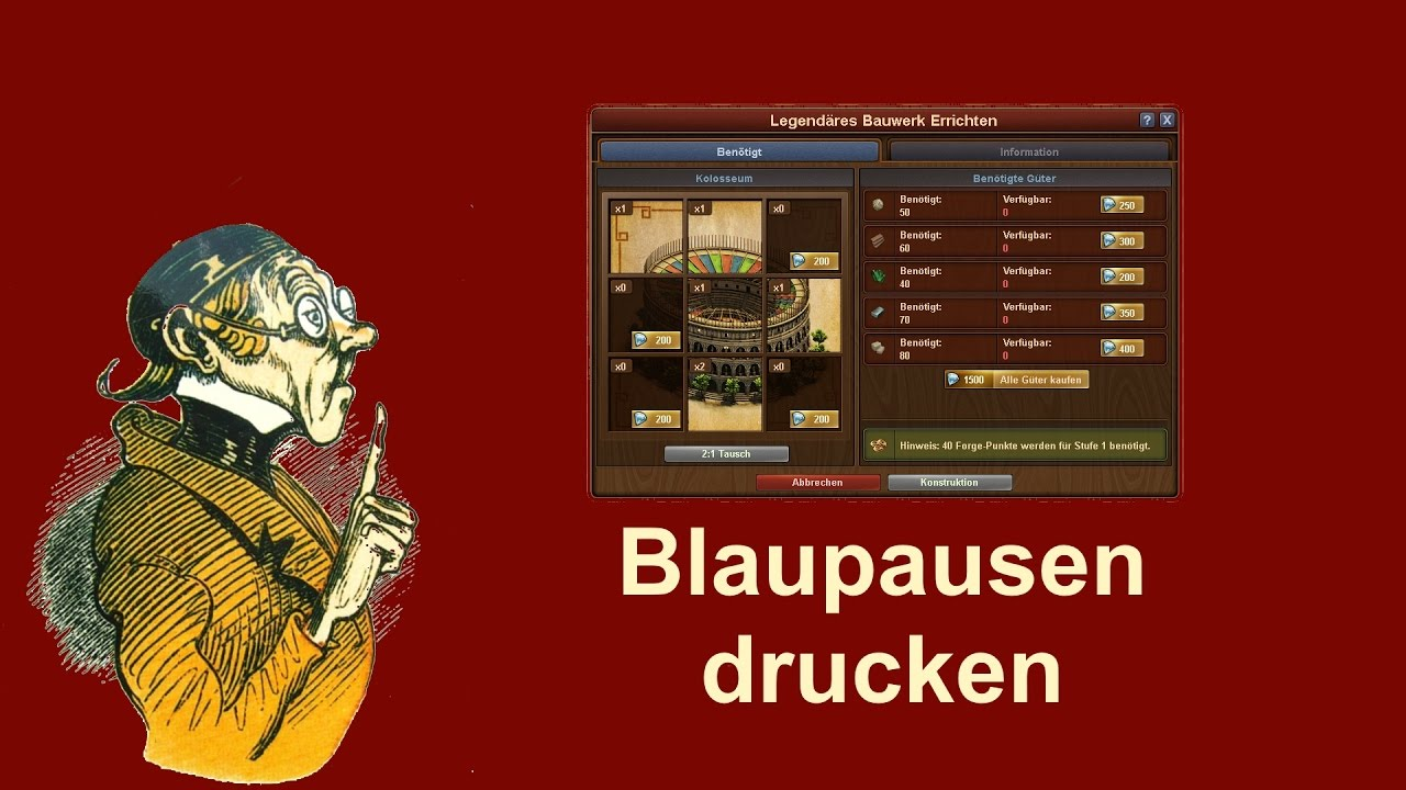 FoETipps: Blaupausen Drucken in Forge of Empires (deutsch) - YouTube